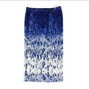 NWT I Jeans by Buffalo blue ombré snake midi skirt
